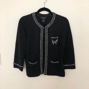White House Black Market Black Sweater Cardigan